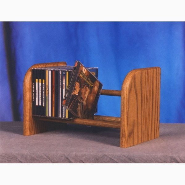 104 Wood Shed Solid Oak 1 Row Dowel CD Rack