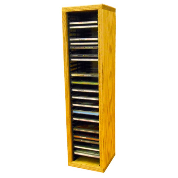 109-2 Wood Shed Solid Oak Tower For CD's