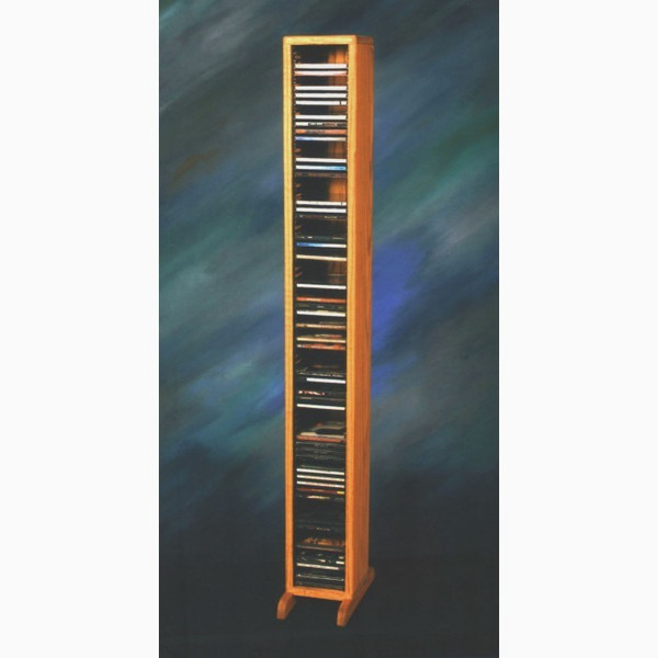 109-4 Wood Shed Solid Oak Tower For CD's