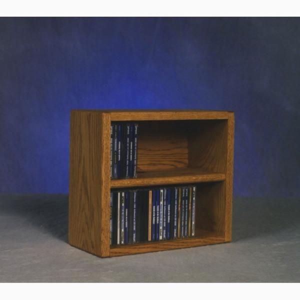 203-1 Wood Shed Solid Oak Desktop Or Shelf CD Cabinet