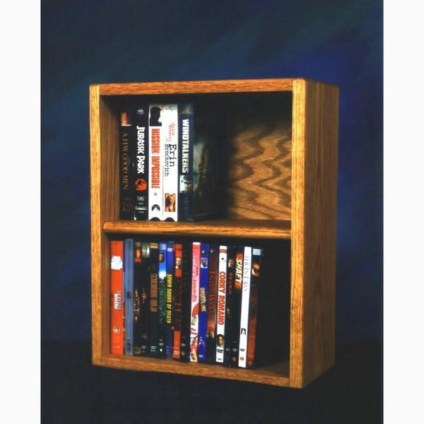 210-1 W Wood Shed Solid Oak Desktop Or Shelf DVD/VHS Cabinet