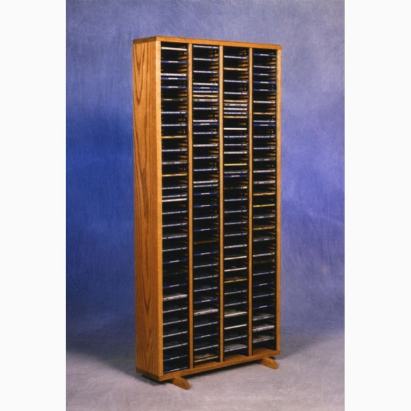 409-4 Wood Shed Solid Oak Tower For CD's