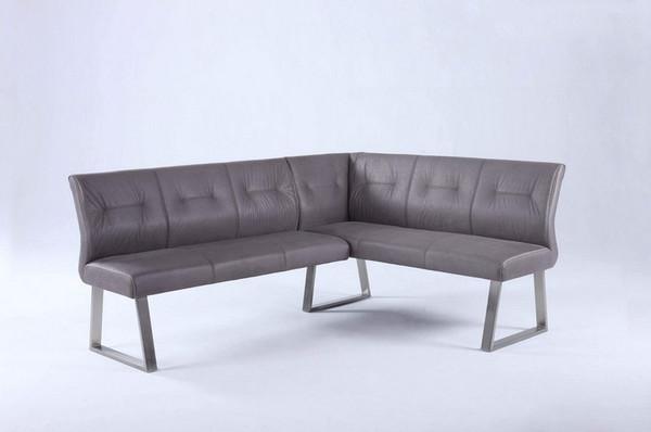 Kalinda Tufted Back Reversible Nook in Grey Fabric - KALINDA-NOOK