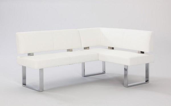 Chintaly White White Pu Nook - Chrome LINDEN-NOOK