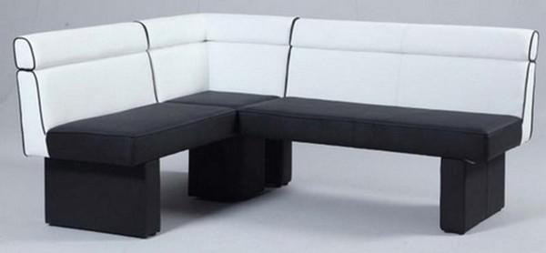 Chintaly White Full Upholstered Nook - White/Black - NATASHA-NOOK
