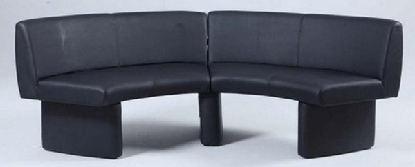 Chintaly Black Fully Upholstered Nook - STEPHANIE-NOOK