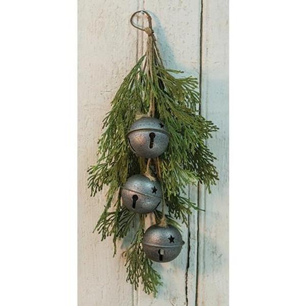 "Gray Bell & Cedar Drop, 17"" FXBR36526 By CWI Gifts"