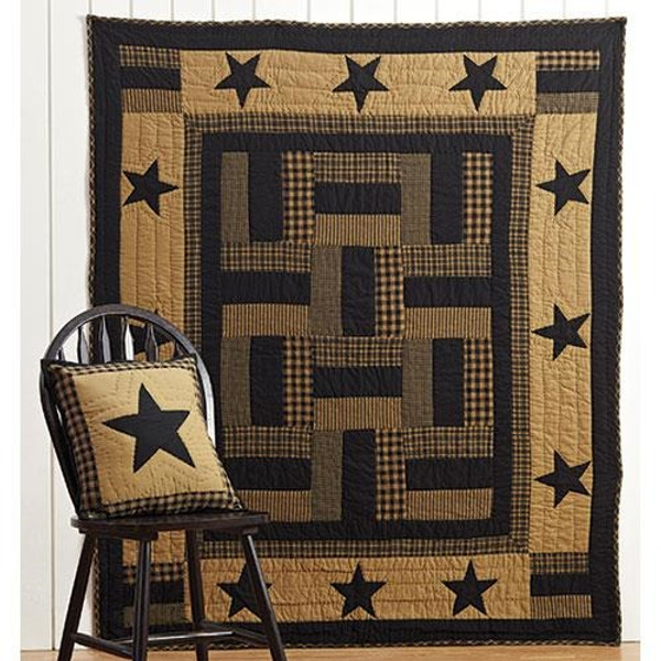 Delaware Star Twin Quilt, 86X68 G13815 By CWI Gifts