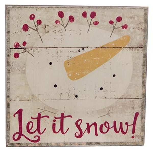 Let It Snow Box Sign G33541 By CWI Gifts