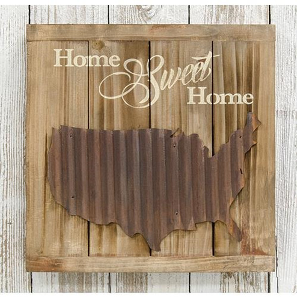 Home Sweet Home Slat Sign G33596 By CWI Gifts