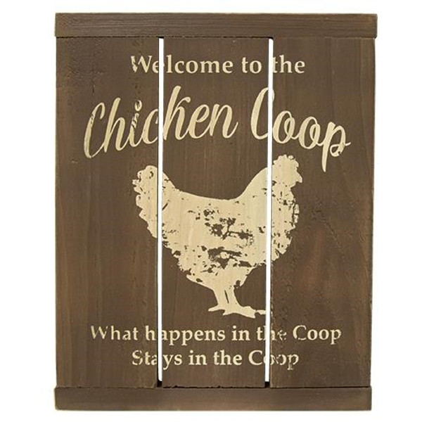 Chicken Coop Slat Sign G33601 By CWI Gifts