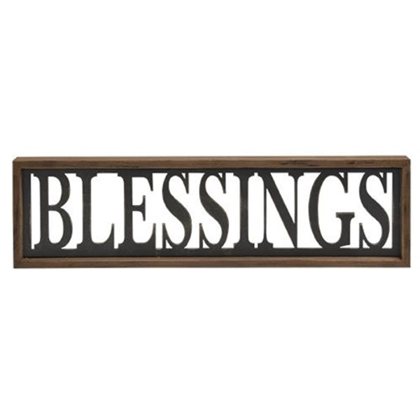 Blessings Framed Sign G34003 By CWI Gifts
