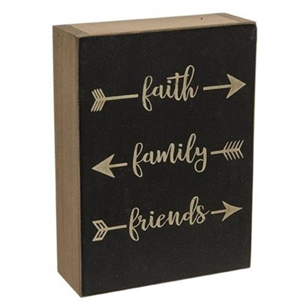 Faith, Family, Friends Block (Pack Of 5) G34019A By CWI Gifts