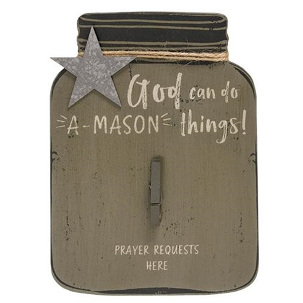 A-Mason Things Sign (Pack Of 5) G34029 By CWI Gifts