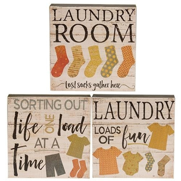 Loads Of Fun Box Sign Assorted Set Of 3 G34095 By CWI Gifts