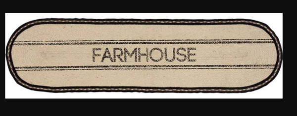 Sawyer Mill Farmhouse Jute Runner, 13X48 G38030 By CWI Gifts