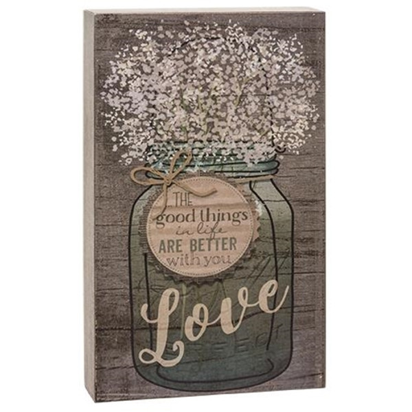 Good Things In Life Box Sign G38402 By CWI Gifts