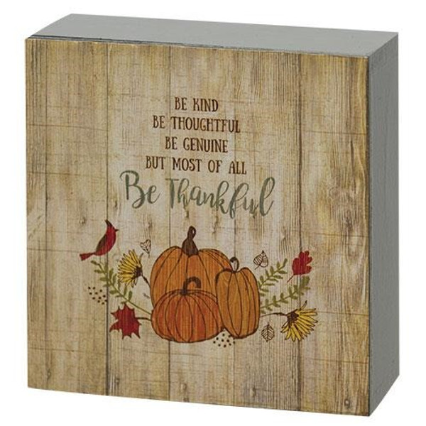 "Be Kind Box Sign, 4"" Sq. (Pack Of 5) G38413 By CWI Gifts"