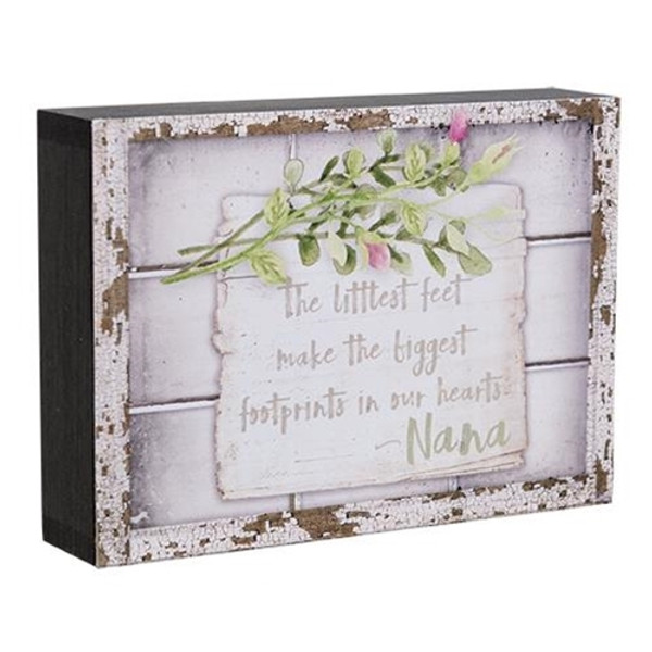 Littlest Feet Box Sign G38656 By CWI Gifts