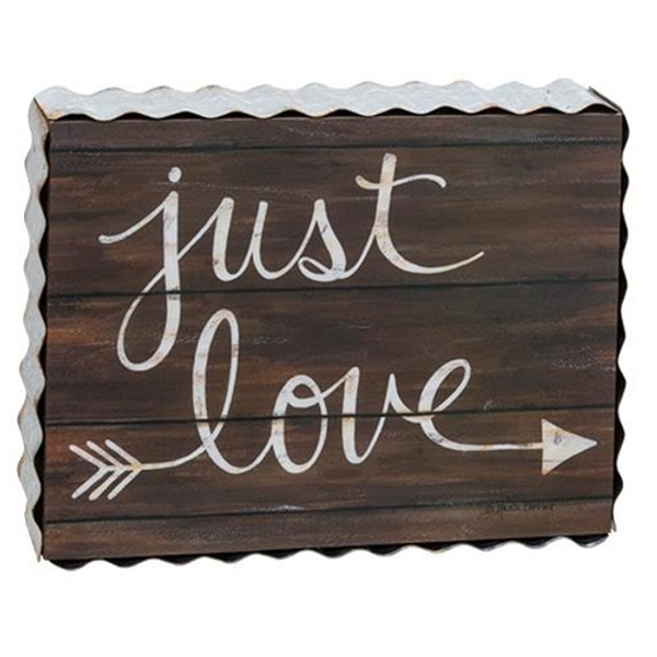Just Love Box Sign G38846 By CWI Gifts