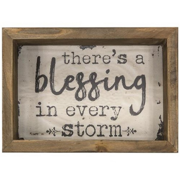 Blessing In Every Storm Box Sign G39051 By CWI Gifts