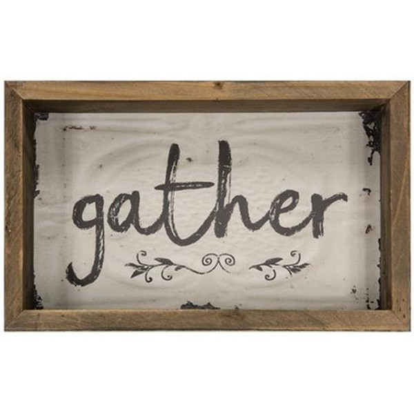 Gather Box Sign G39074 By CWI Gifts
