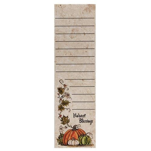 Harvest Blessings Notepad (Pack Of 5) G50019 By CWI Gifts