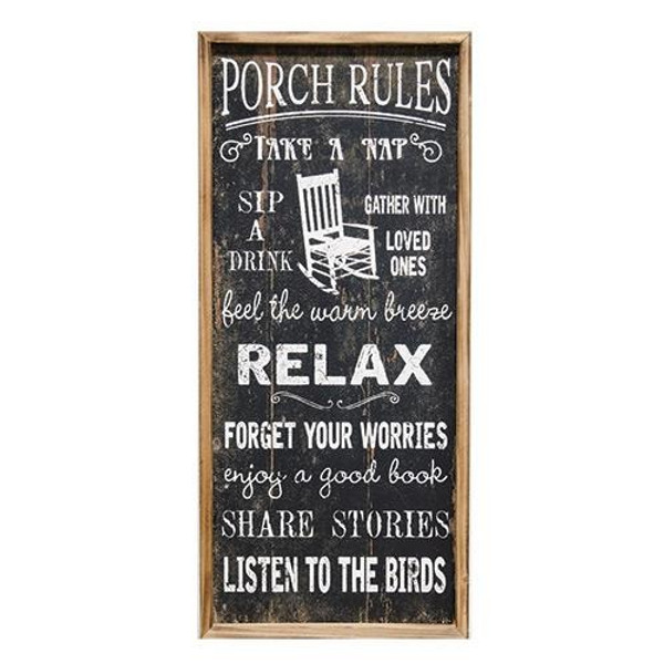 Porch Rules Sign G60056 By CWI Gifts