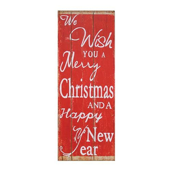 Holiday Wishes Wooden Sign G60065 By CWI Gifts