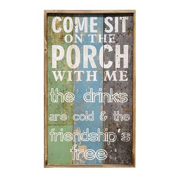 Sit On The Porch Wooden Sign G60076 By CWI Gifts