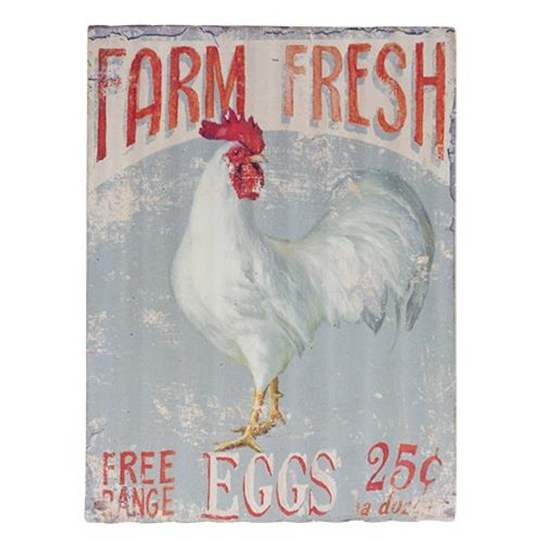 Free Range Eggs Sign G60083 By CWI Gifts
