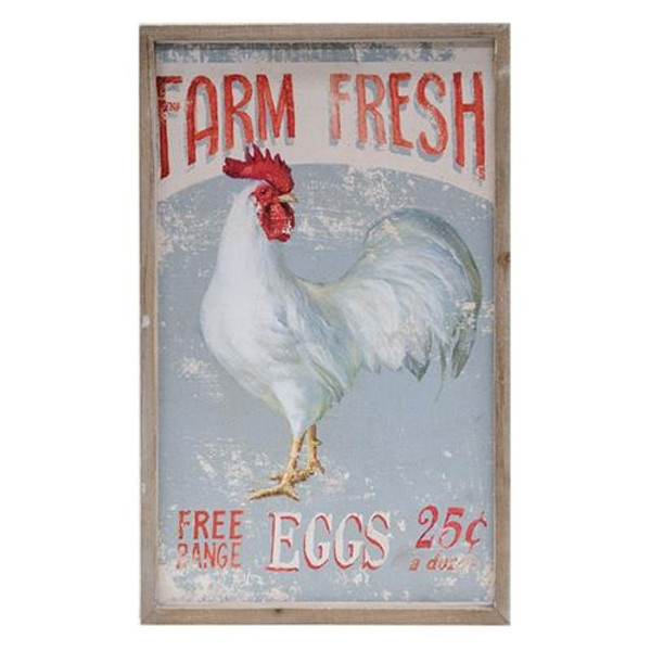 Farm Fresh Eggs Framed Sign G60085 By CWI Gifts