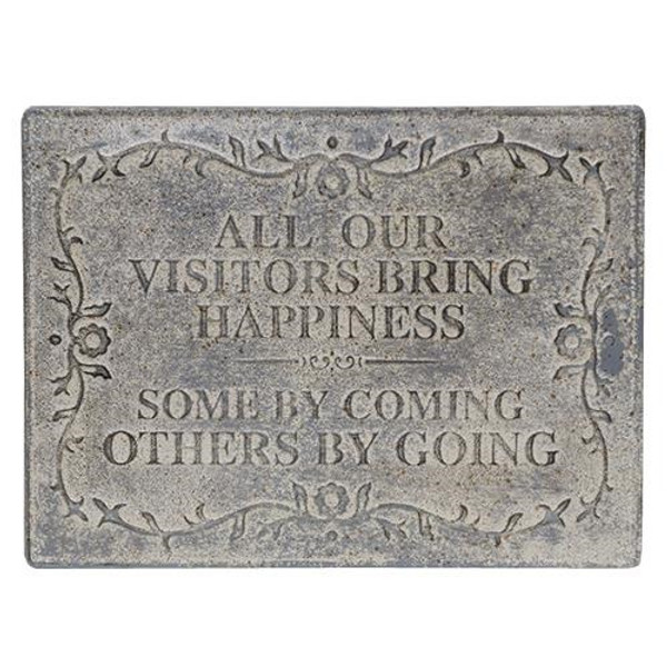 All Our Visitors Galvanized Sign G60087 By CWI Gifts