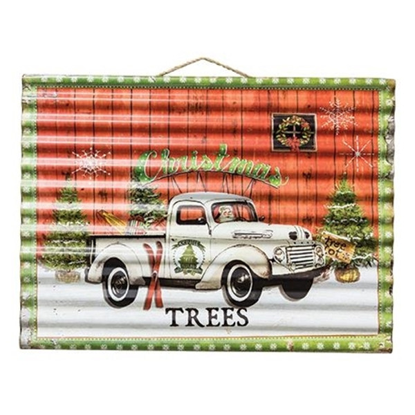 Christmas Tree Farm Corrugated Sign G60118 By CWI Gifts