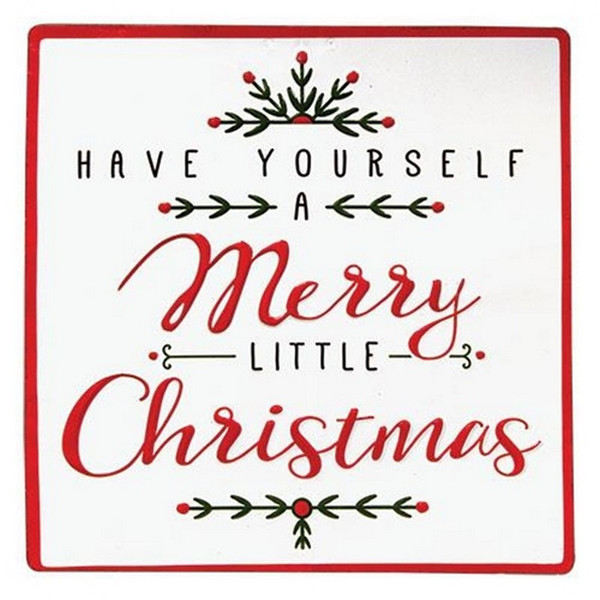 Merry Little Christmas Sign G60188 By CWI Gifts
