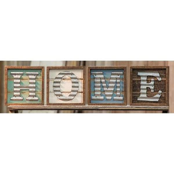 4/Set, Rustic Home Sign G65007 By CWI Gifts