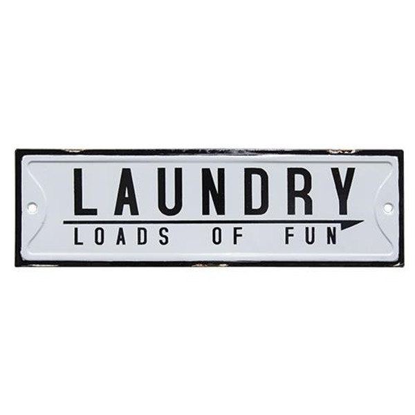 Loads Of Fun Laundry Sign G65044 By CWI Gifts