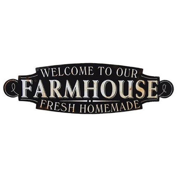 Welcome To Our Farmhouse Sign G65046 By CWI Gifts
