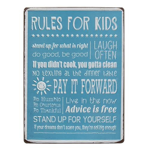 Rules For Kids Sign G65048 By CWI Gifts