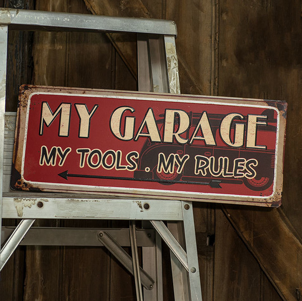 My Garage, My Rules Sign G65049 By CWI Gifts