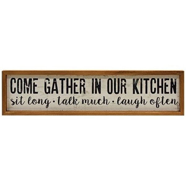 Gather In Our Kitchen Sign G65070 By CWI Gifts