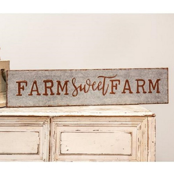 Galvanized Metal Farm Sweet Farm Sign G65092 By CWI Gifts