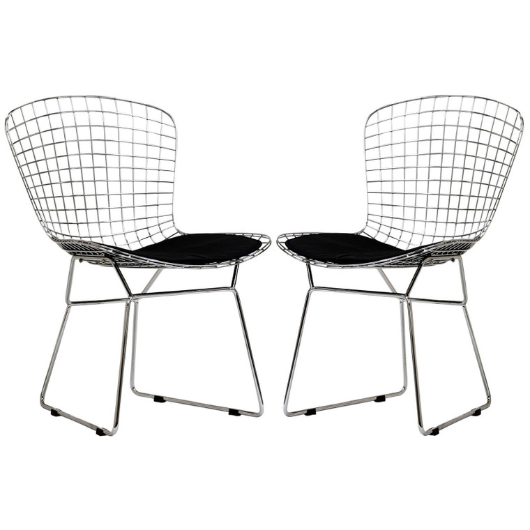 Modway Cad Dining Chairs - Set Of 2 - Black EEI-925-BLK