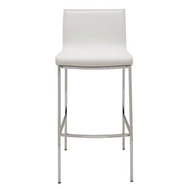 Nuevo Contemporary White Leather Colter Counter Stool HGAR294