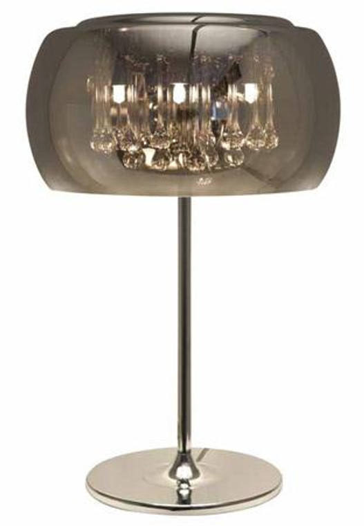 Nuevo Modern Chrome Glas Round Alain Table Lamp HGHO123