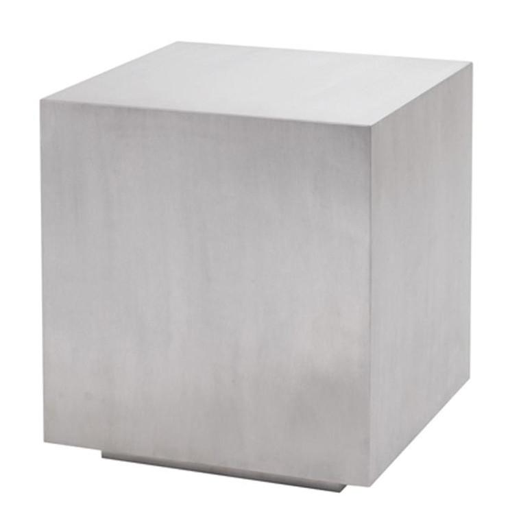 Nuevo Traditional White Steel Square Caldo Side Table HGTA192