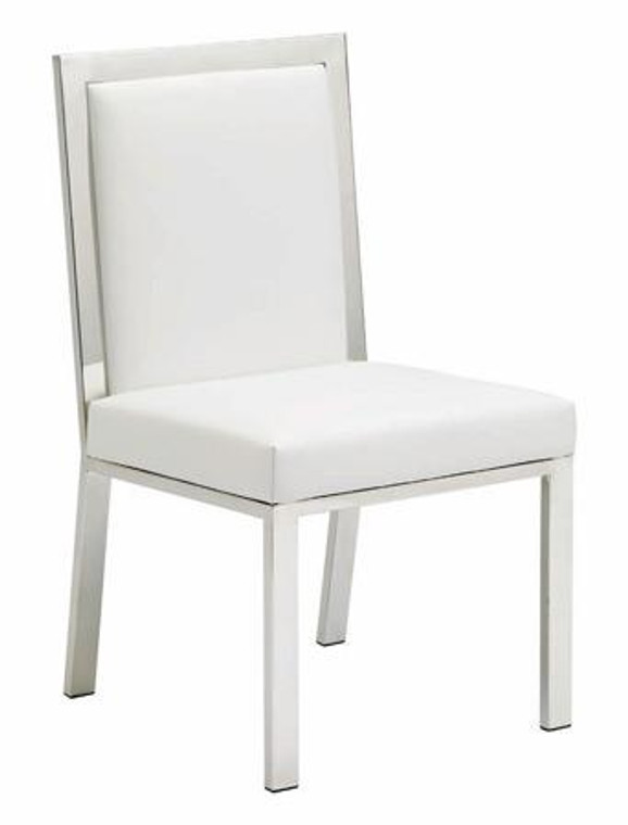 Nuevo White Leather Rennes Dining Chair HGTA480
