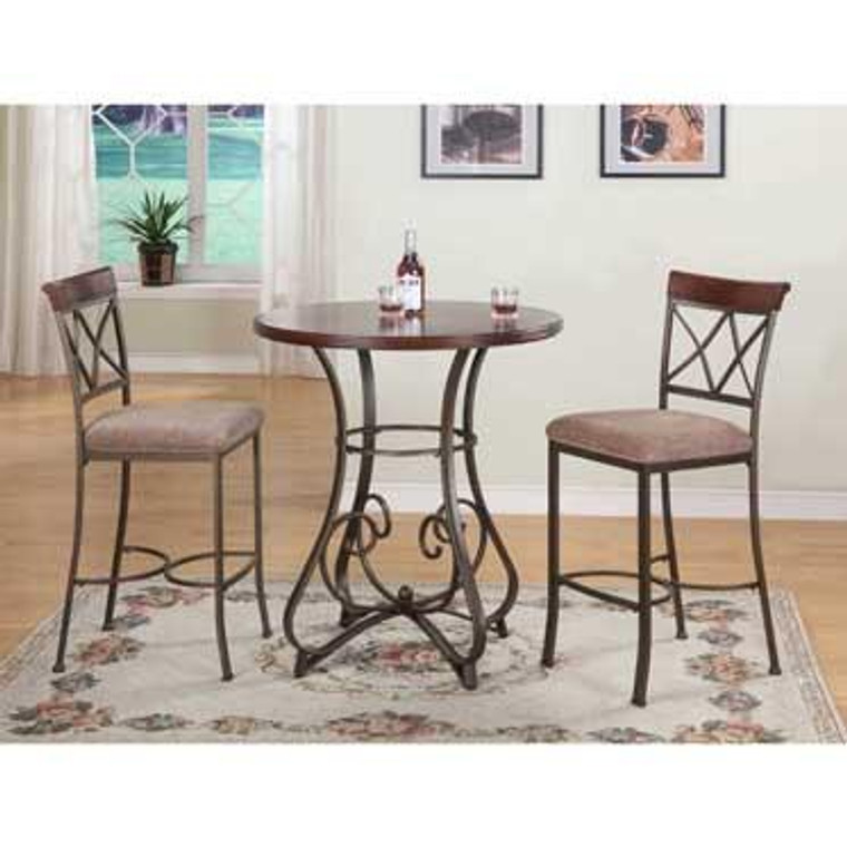 Hamilton 3 Piece Pub Table Set 697-404M2 by Powell