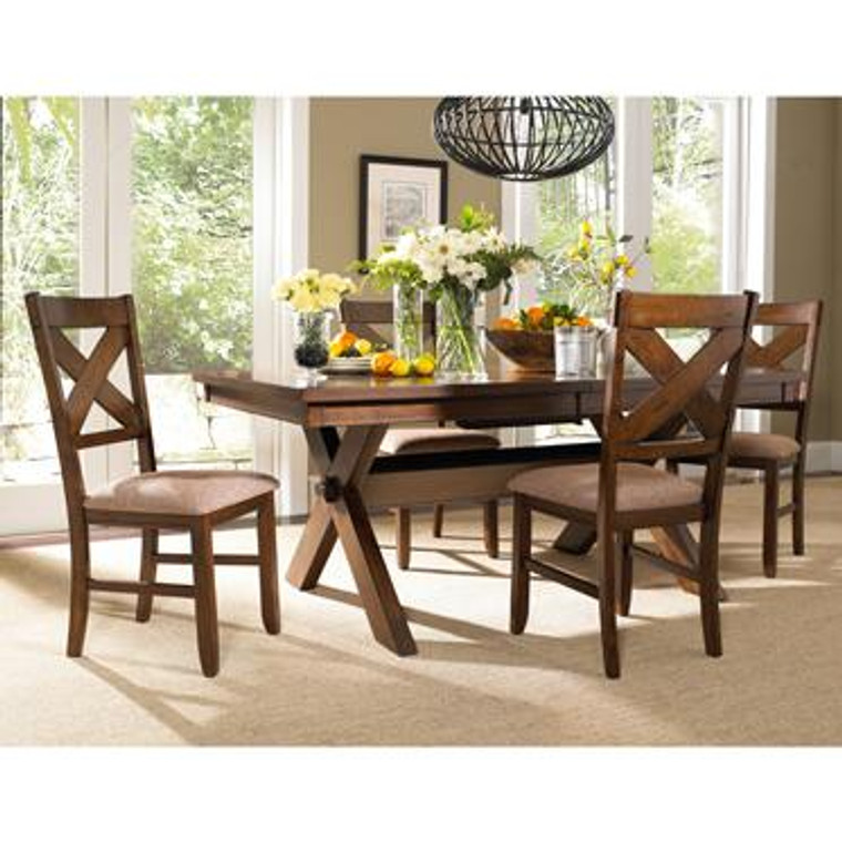 Wood Kraven 5 Piece Dining Table Set 713-417M1 by Powell