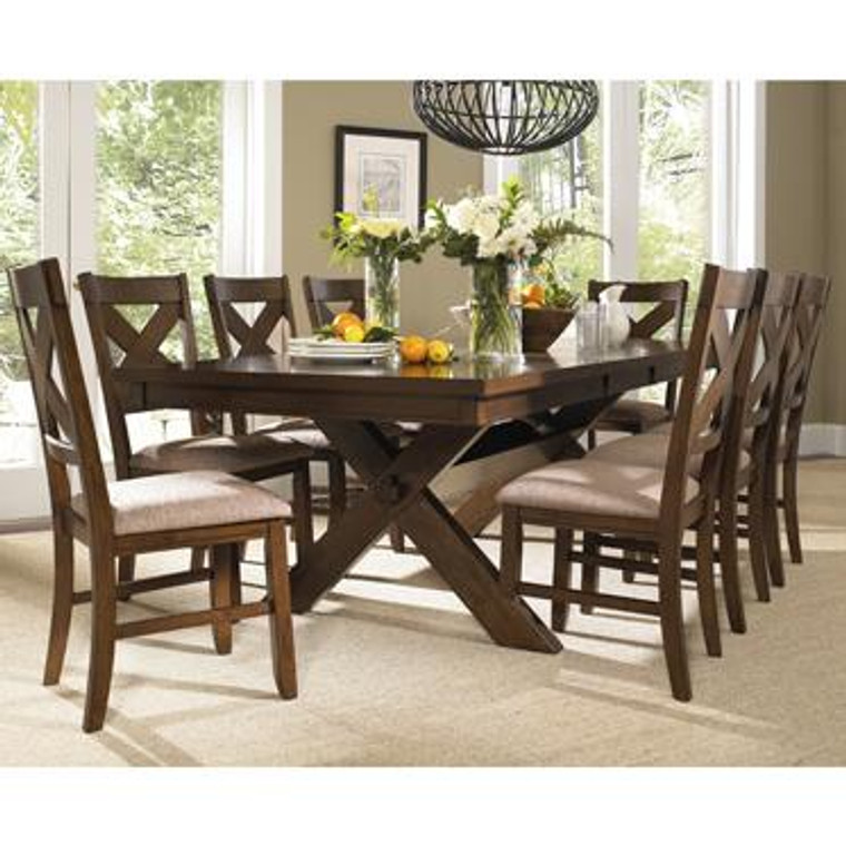 Wood Kraven 9 Piece Dining Table Set 713-417M3 by Powell